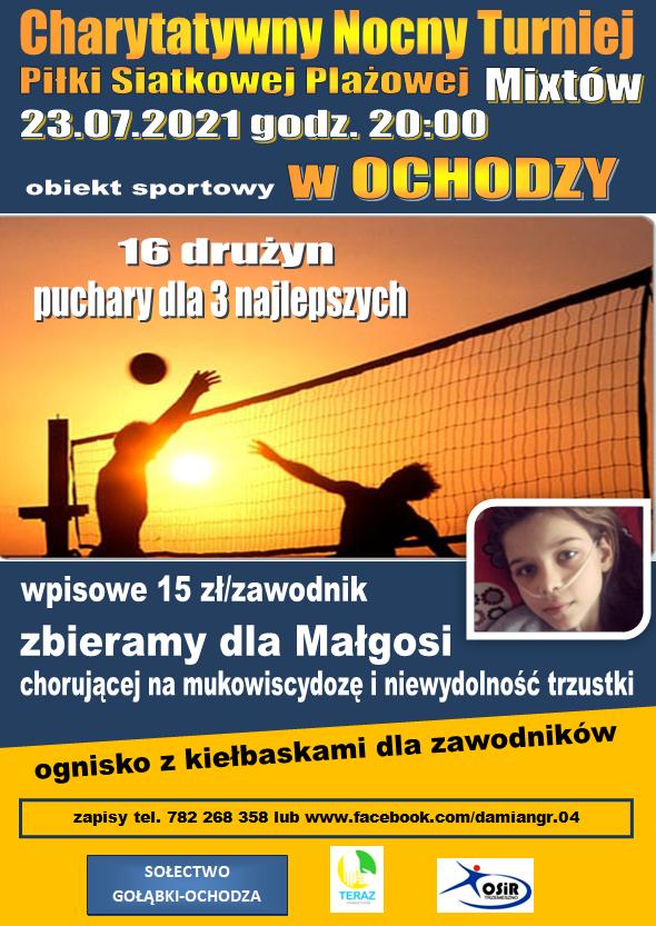 Charytatywny Nocny Turniej Piłki Siatkowej Plażowej Mixtów @ BOIKSO SPORTOWE OCHODZA